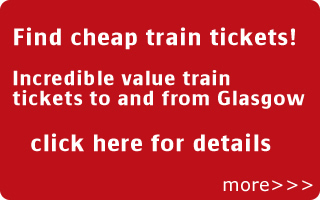 find cheap train tickets to Glasgow